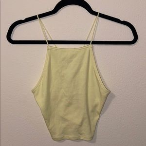 Women's Yellow Tank Top. Size SMALL.